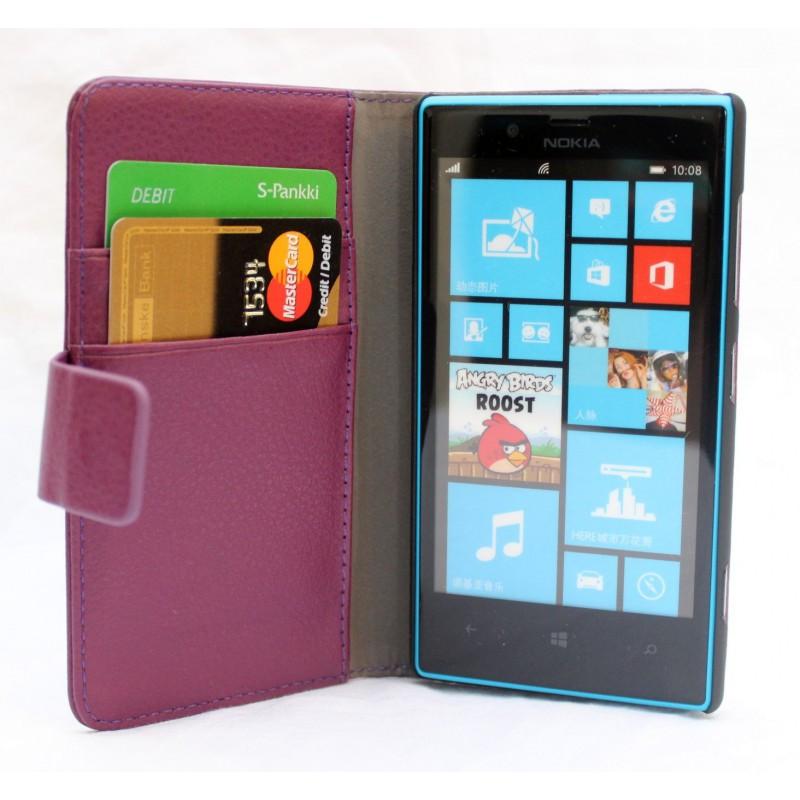 Lumia 720 violetti lompakkokotelo