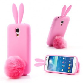 Galaxy S4 mini pinkki pupu silikonisuojus.