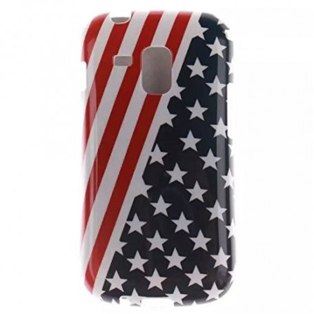 Galaxy Trend Plus Yhdysvaltojen lippu silikonisuojus.