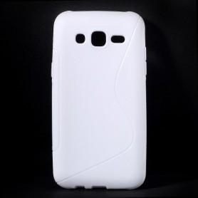Galaxy J5 valkoinen silikonisuojus.