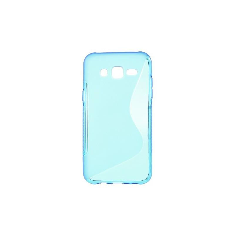 Galaxy J5 sininen silikonisuojus.