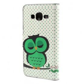 Galaxy J5 vihreä pöllö puhelinlompakko