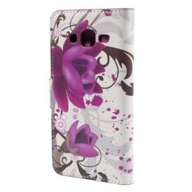 Galaxy J5 violetit kukat puhelinlompakko