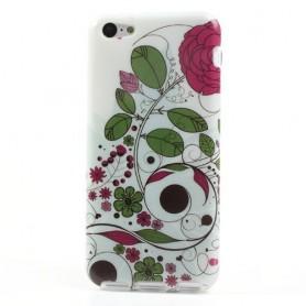 iPhone 5c kukka silikonisuojus.