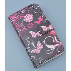 Lumia 920 kukkia ja perhosia puhelinlompakko