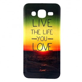 Galaxy J5 Live the Life you Love silikonisuojus.