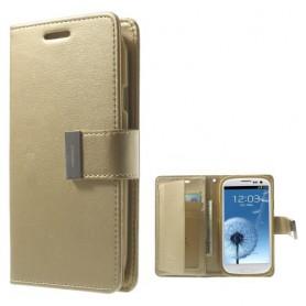 Samsung Galaxy S3 samppanjan kultainen puhelinlompakko
