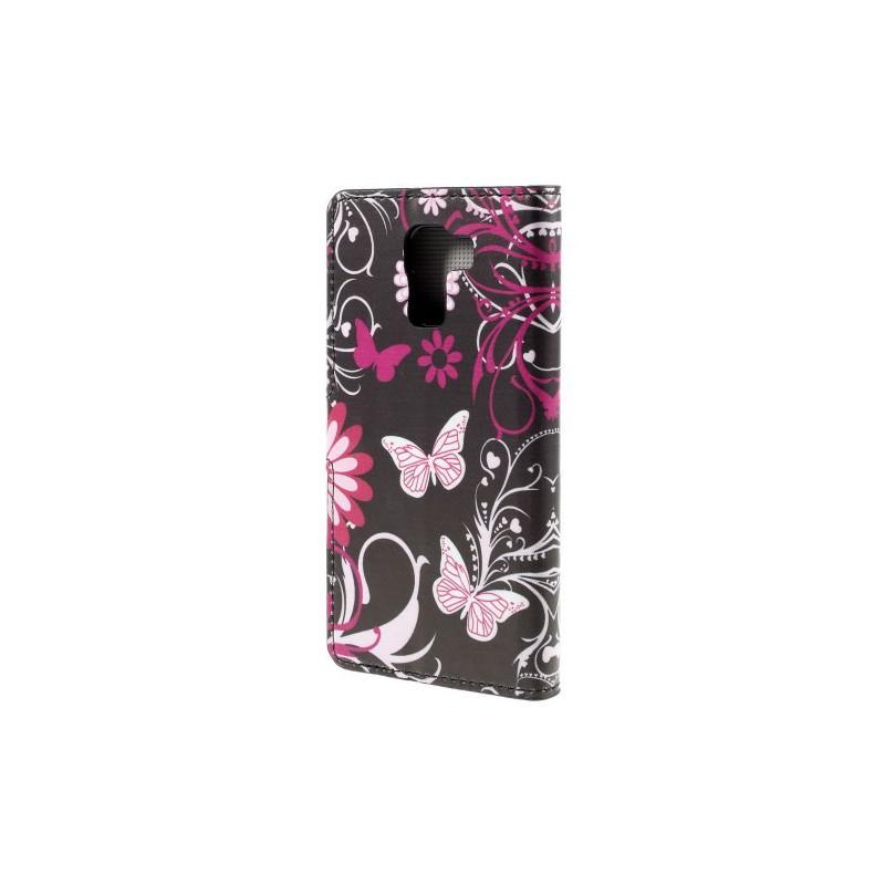 Huawei Honor 7 kukkia ja perhosia puhelinlompakko