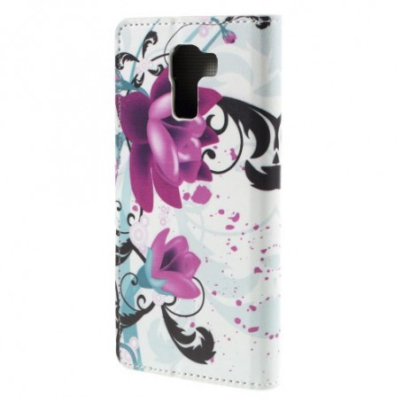 Huawei Honor 7 violetit kukat puhelinlompakko