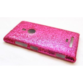 Lumia 925 hot pink glitter suojakuori.