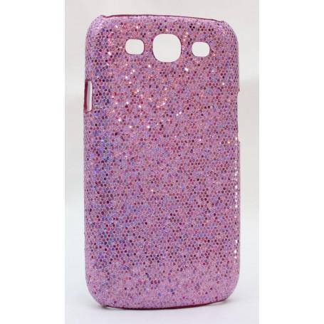Galaxy S3 violetin värinen glitter suojakuori.
