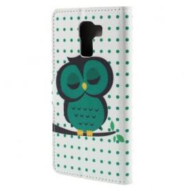 Huawei Honor 7 vihreä pöllö puhelinlompakko