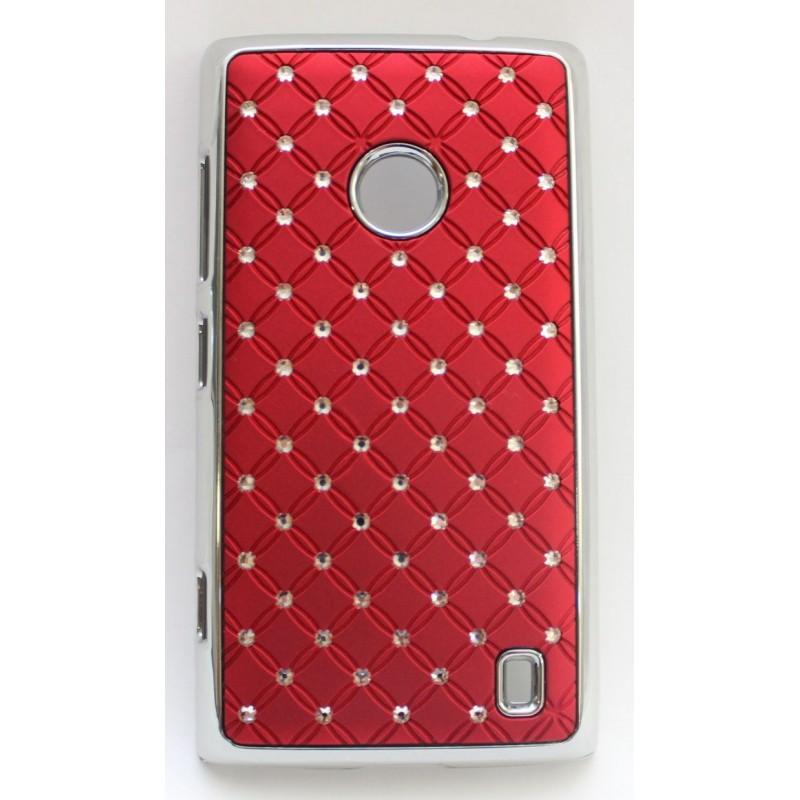 Nokia Lumia 520 viininpunainen luksus suojakuori