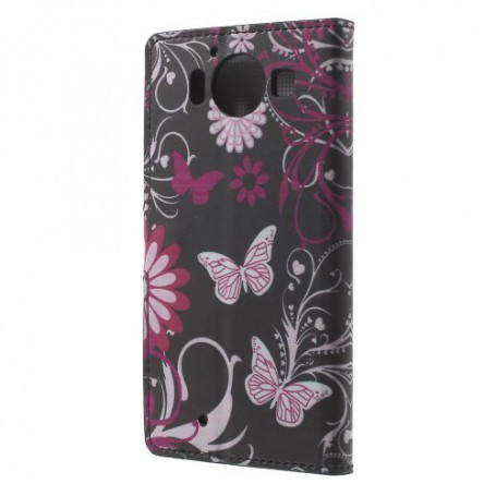 Lumia 950 kukkia ja perhosia puhelinlompakko
