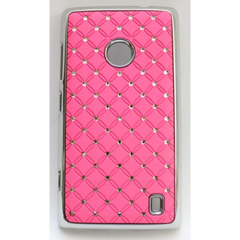 Nokia Lumia 520 vaaleanpunainen luksus suojakuori