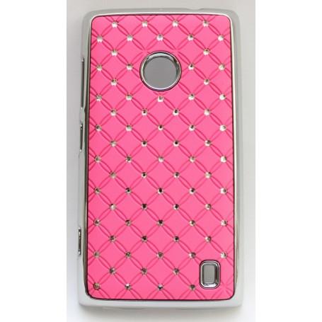 Nokia Lumia 520 pinkki luksus suojakuori