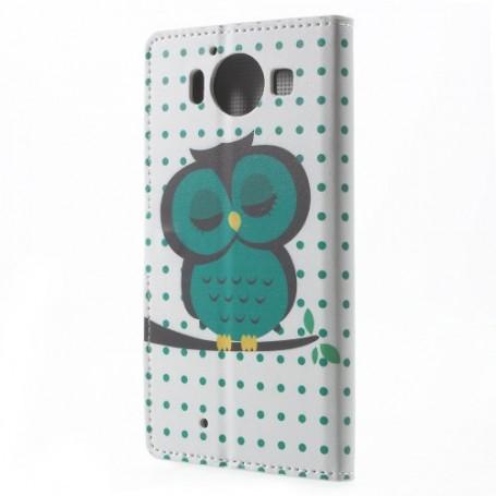 Lumia 950 vihreä pöllö puhelinlompakko