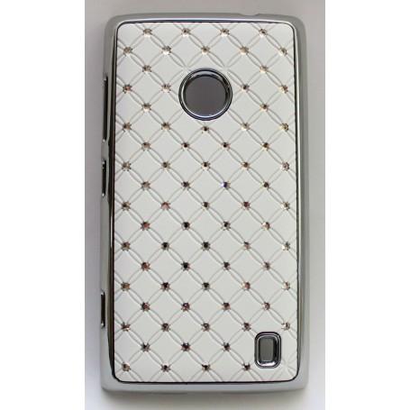 Nokia Lumia 520 valkoinen luksus suojakuori