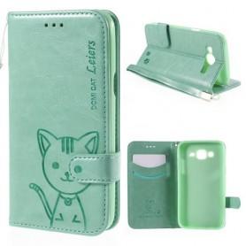 Galaxy J5 vihreä kissa puhelinlompakko