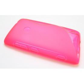 Lumia 520 roosan punainen silikoni suojakuori.