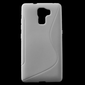 Huawei Honor 7 valkoinen silikonisuojus.