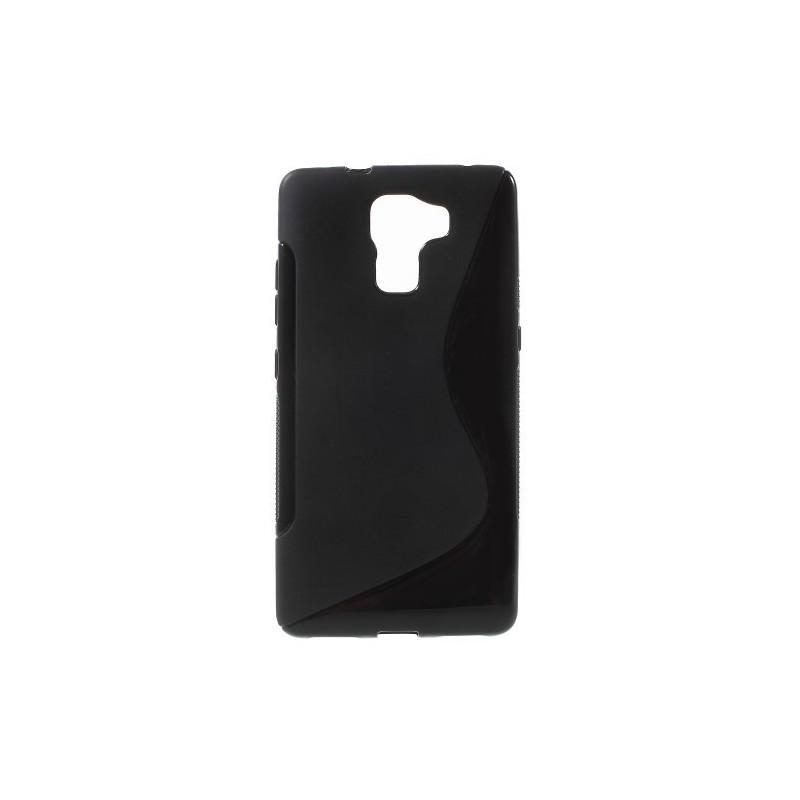 Huawei Honor 7 musta silikonisuojus.
