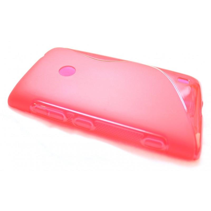 Lumia 520 punainen silikoni suojakuori.