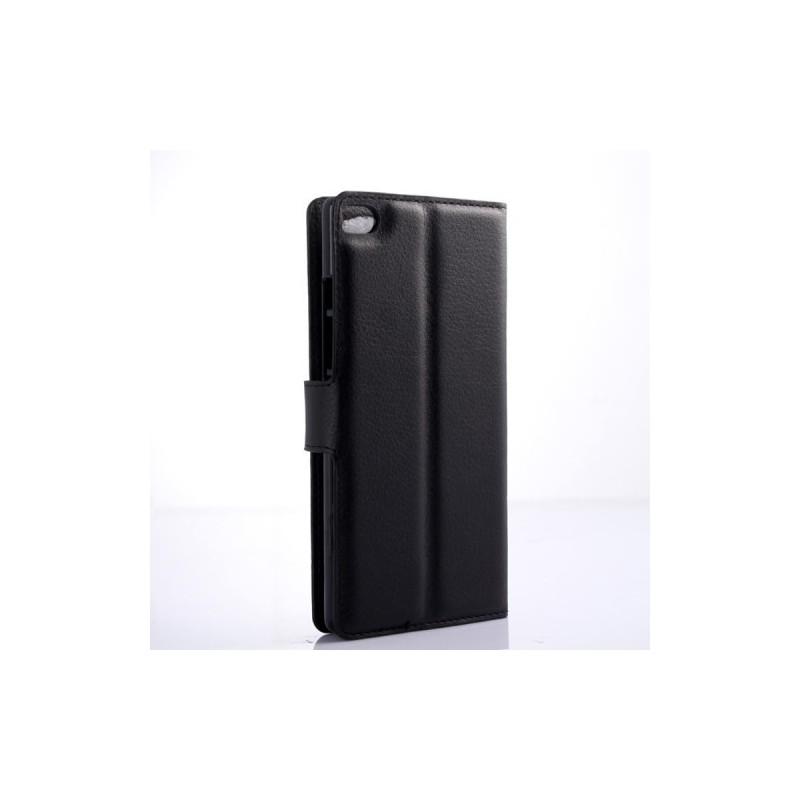Huawei P8 Lite musta puhelinlompakko