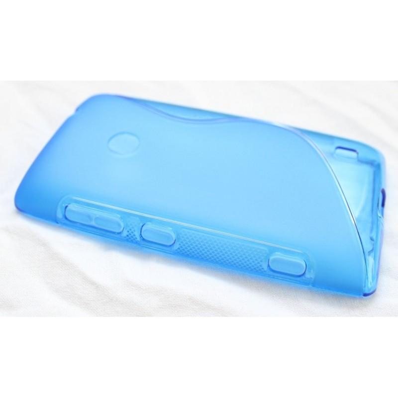 Lumia 520 sininen silikoni suojakuori.