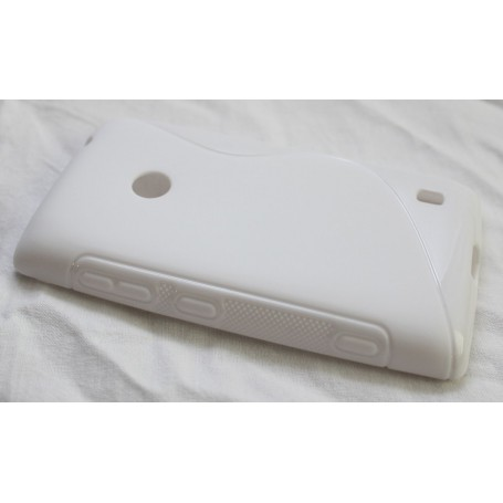 Lumia 520 valkoinen silikoni suojakuori.