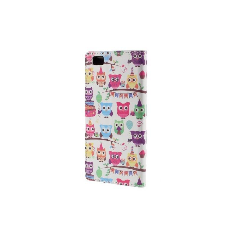 Huawei P8 Lite pöllöt puhelinlompakko