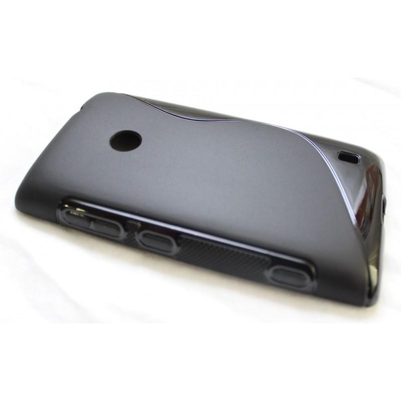 Lumia 520 musta silikoni suojakuori.