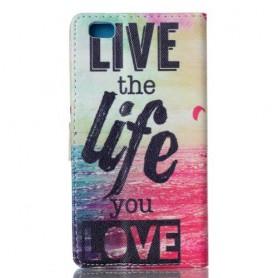 Huawei P8 Lite live life puhelinlompakko