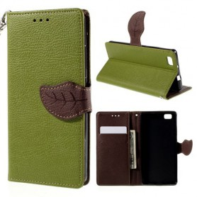 Huawei P8 Lite vihreä puhelinlompakko