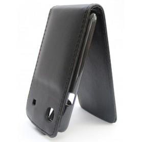 Galaxy S musta läppäkotelo.