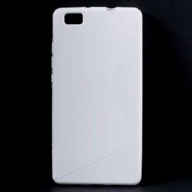 Huawei P8 Lite valkoinen silikonisuojus.