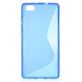 Huawei P8 Lite sininen silikonisuojus.