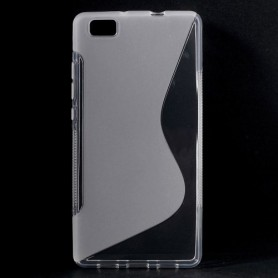 Huawei P8 Lite läpinäkyvä silikonisuojus.
