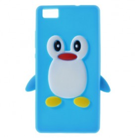 Huawei P8 Lite sininen pingviini silikonikuori.