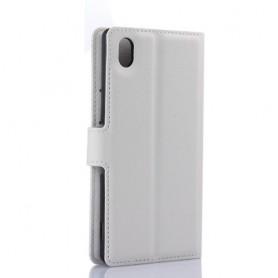 Xperia M4 Aqua valkoinen puhelinlompakko