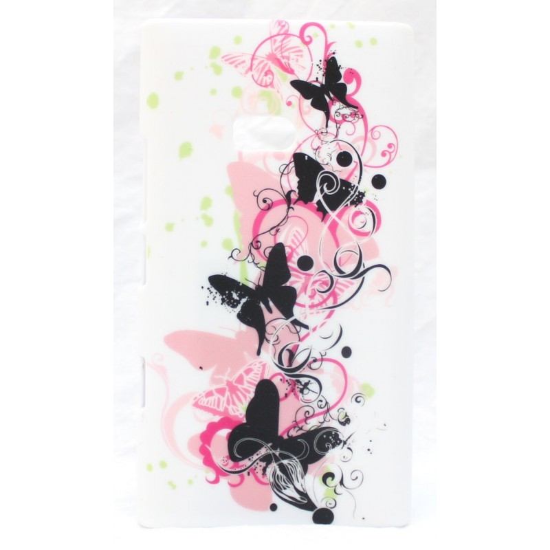 Lumia 900 suojakuori vaaleanpunaiset perhoset