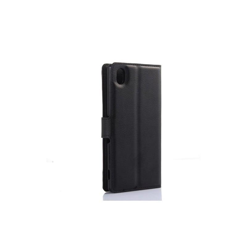 Xperia M4 Aqua musta puhelinlompakko