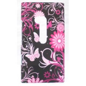 Lumia 900 suojakuori tumma kukat ja perhoset