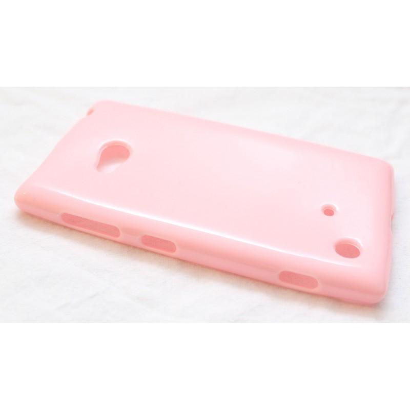 Lumia 720 vaaleanpunainen silikoni suojakuori.