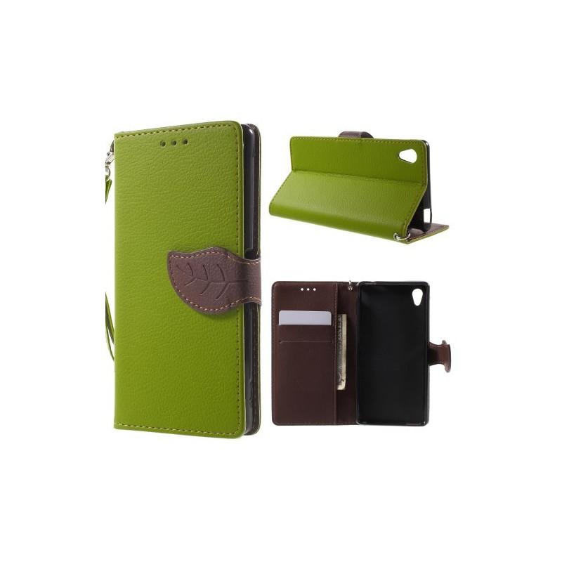 Sony Xperia M4 Aqua vihreä puhelinlompakko