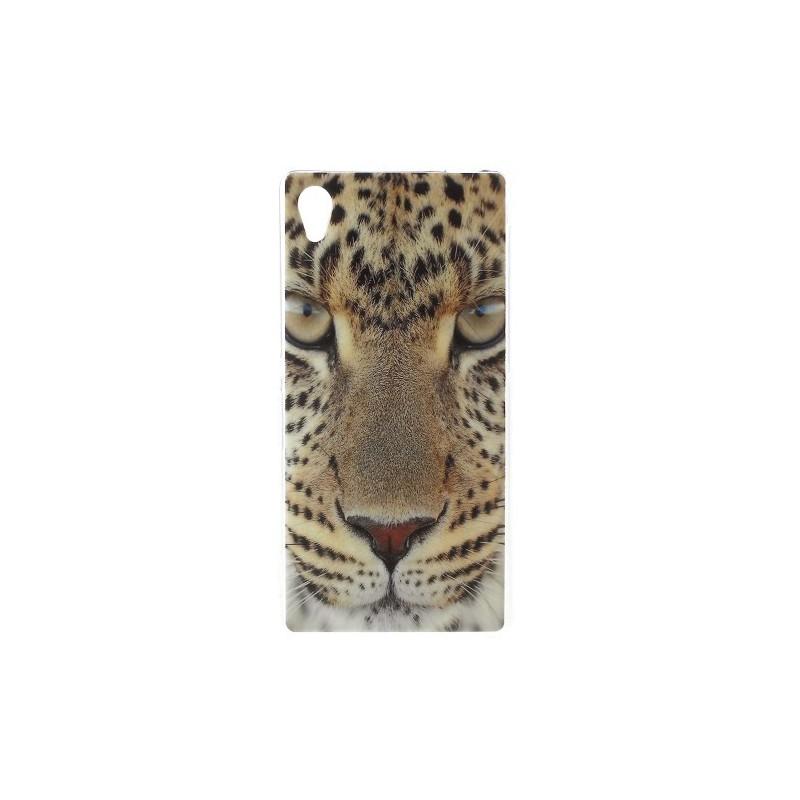 Sony Xperia M4 Aqua leopardi silikonisuojus.