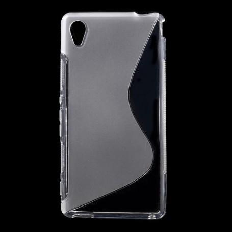 Sony Xperia M4 Aqua läpinäkyvä silikonisuojus.