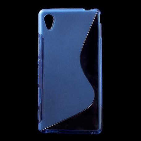 Sony Xperia M4 Aqua sininen silikonisuojus.