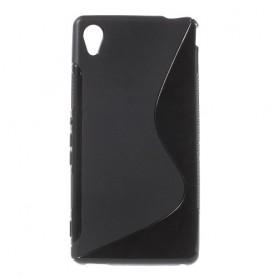 Sony Xperia M4 Aqua musta silikonisuojus.