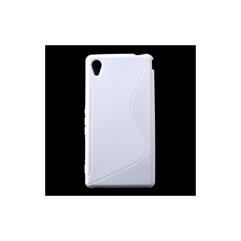 Sony Xperia M4 Aqua valkoinen silikonisuojus.